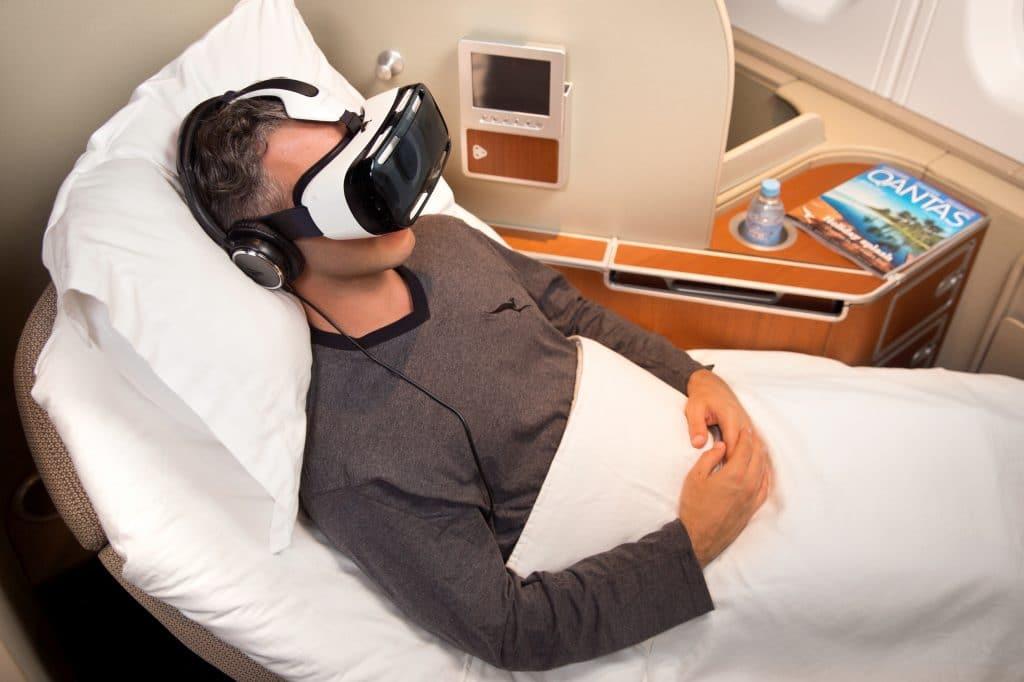 VR Brille Flugzeug